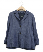 S Max Mara(エスマックスマーラ)の古着「リネンジャケット」 ブルー