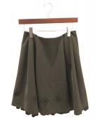 FOXEY NEWYORK(フォクシーニューヨーク)の古着「スカート」|ブラウン