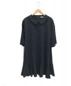 FOXEY NEWYORK(フォクシーニューヨーク)の古着「丸襟五分丈ワンピース」|ブラック
