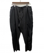 Yohji Yamamoto pour homme(ヨウジヤマモトプールオム)の古着「製品染め定番ヒモパンツ」|ブラック