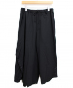 B Yohji Yamamoto(ビーヨウジヤマモト)の古着「19AW Asymmetry Button Pants」 ブラック