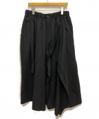 BLACK Scandal Yohji Yamamoto(ブラックスキャンダル ヨウジヤマモト)の古着「19AW Wide Wrap Pants」 ブラック