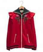 GUCCI(グッチ)の古着「エンブロイダリーテクニカルジャージージャケット」|レッド