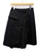 sacai(サカイ)の古着「ラッププリーツスカート」