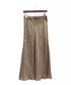 MUSE de Deuxieme Classe(ミューズ ドゥーズィエム クラス)の古着「スカート」|カーキ