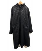 FENDI JEANS(フェンディージーンズ)の古着「ズッカ柄フーデッドコート」|ブラック