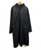 FENDI JEANS(フェンディ ジーンズ)の古着「ズッカ柄フーデッドコート」|ブラック