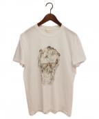 ALEXANDER McQUEEN(アレンキーサンダーマックイーン)の古着「レディースカルTシャツ」 ホワイト