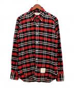 Thom Browne(トムブラウン)の古着「チェックシャツ」|レッド