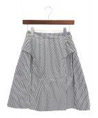 CHANEL(シャネル)の古着「Aラインスカート」|ホワイト×ブラック