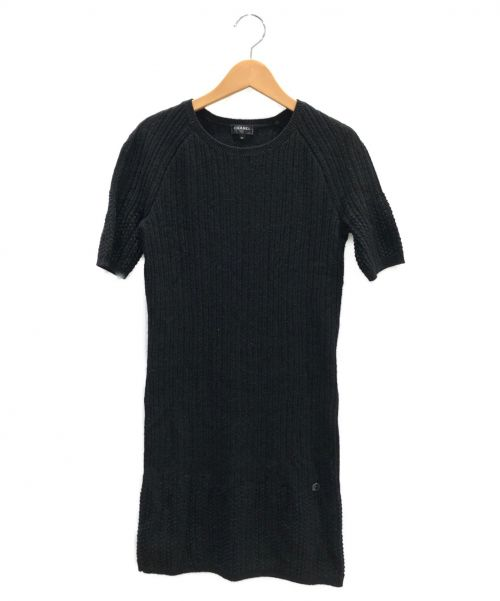 CHANEL(シャネル)CHANEL (シャネル) ニットワンピース ブラック サイズ:34の古着・服飾アイテム