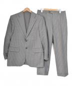 BURBERRY LONDON(バーバリー ロンドン)の古着「ウール ペンストライプ 2Bスーツ」|グレー