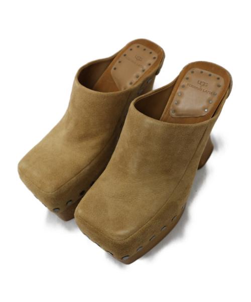 UGG(アグ)UGG (アグ) プラットフォームサンダル ブラウン サイズ:24cm UGG X EL ブギー プラットフォームの古着・服飾アイテム