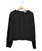 EPOCA(エポカ)の古着「ドライダブルクロス プルオーバー 刺繍ブラウス」|ブラック
