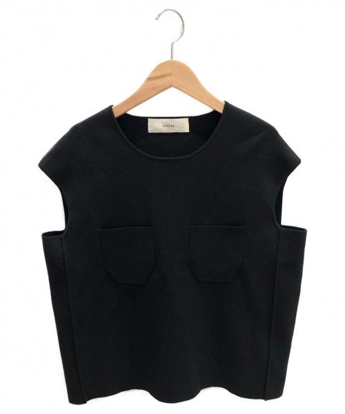 CYCLAS(シクラス)CYCLAS (シクラス) ノースリーブニット ブラック サイズ:S 春秋物の古着・服飾アイテム