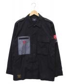 ()の古着「ミリタリーシャツ」|ブラック