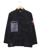 glamb(グラム)の古着「ミリタリーシャツ」|ブラック