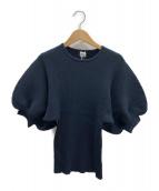 IENA(イエナ)の古着「ボリューム袖ニット」|ネイビー