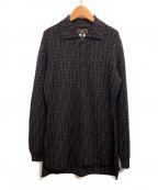FENDI()の古着「ヴィンテージニットシャツ」|ブラウン