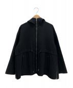 Drawer(ドゥロワー)の古着「フーデッドコート」 ブラック
