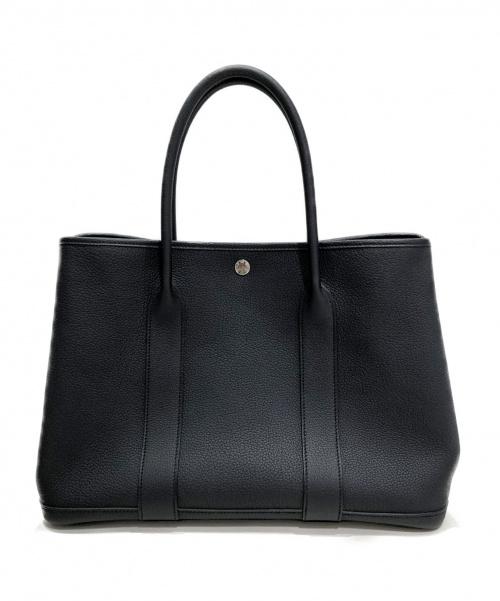 HERMES(エルメス)HERMES (エルメス) ガーデンパーティPM  ブラック サイズ:PM ネゴンダ シルバー金具 D刻印の古着・服飾アイテム