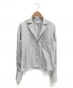 CHANEL()の古着「ココマークボタンシャツジャケット」 ホワイト×グレー