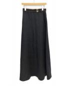 GUCCI(グッチ)の古着「ベルトデザインロングスカート」|ブラック