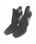 ()の古着「ショートブーツ」|ブラック×グレー