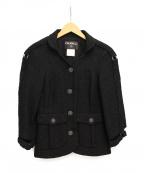 CHANEL(シャネル)の古着「ツイードセットアップスーツ」|ブラック