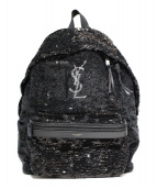 ()の古着「スパンコールデイバッグ」|ブラック