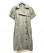 S Max Mara(エスマックスマーラ)の古着「シャツワンピース」 オリーブ