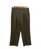 CellarDoor(セラードアー)の古着「タックパンツ」|ブラウン