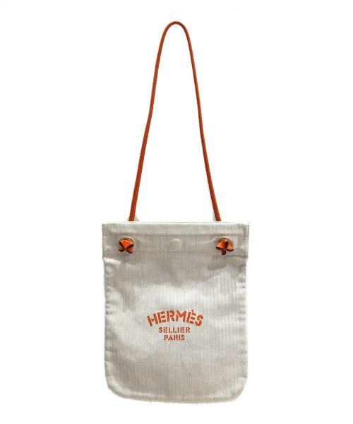 HERMES(エルメス)HERMES (エルメス) アリーヌPM ベージュ×オレンジ サイズ:PM アリーヌPM -の古着・服飾アイテム