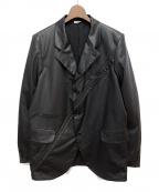 COMME des GARCONS HOMME DEUX(コムデギャルソン オム ドゥ)の古着「20AW フェイクレザージャケット」|ブラック