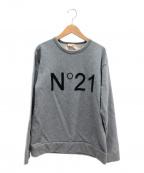N°21(ヌメロヴェントゥーノ)の古着「ロゴスウェット」|グレー