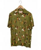 Aloha Blossom(アロハブロッサム)の古着「アロハシャツ」 オリーブ