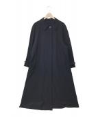 EMPORIO ARMANI(エンポリオアルマーニ)の古着「ステンカラーコート」|ネイビー