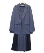 REDYAZEL(レディアゼル)の古着「3ピースプリーツセットアップ」|ブルー