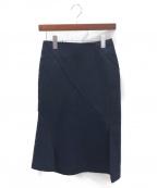 JIL SANDER(ジルサンダー)の古着「ウールスカート」|ネイビー