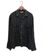 Y's for men(ワイズフォーメン)の古着「ストライプシャツ」|ブラック