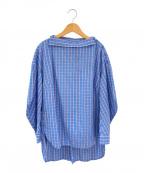 ENFOLD()の古着「変形シャツ」|スカイブルー