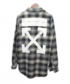 OFFWHITE()の古着「Check Wool Shirt Multicolor In」