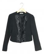 EPOCA(エポカ)の古着「ノーカラージャケット」|ブラック