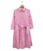 ASPESI(アスペジ)の古着「シャツワンピース」 ホワイト×ピンク