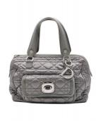 Christian Dior(クリスチャン ディオール)の古着「レディディオール キルティングハンドバッグ」|グレー