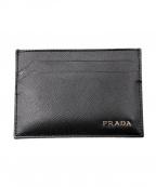 PRADA(プラダ)の古着「レザーカードケース」|ブラック