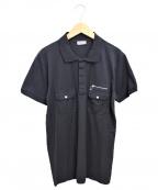 DIOR HOMME(ディオール オム)の古着「半袖ポロシャツ」 ブラック