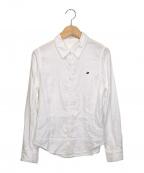 mina perhonen(ミナ ペルホネン)の古着「ワンポイント刺繍シャツ」|ホワイト