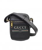 GUCCI()の古着「グッチプリント ロゴ ショルダーバッグ」|ブラック