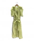 MYLAN(マイラン)の古着「ラッフルラップドレス」|イエロー